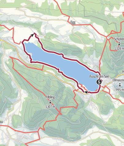 Karte / Fuschlsee Rundwanderweg
