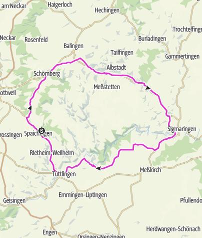 Karte / Heubergtour 16