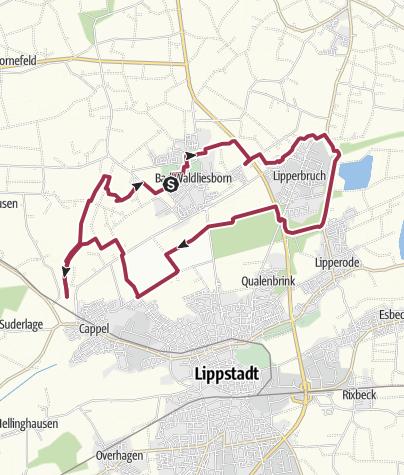 Map / B+H-2017-02-09: Bad Walibo - Kurpark - Margaretensee - Glenne