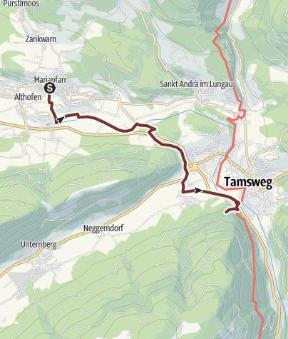 Map / Leonhardsweg Etappe 13: Mariapfarr - Tamsweg