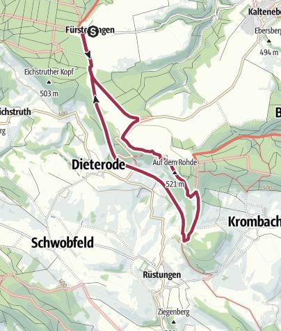 """Karte / Gasthof """"firlefanz""""  - Dieteröder Klippen (Rundwanderweg)"""