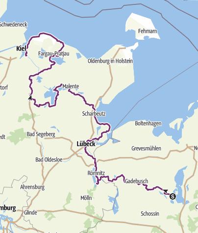 Karte / Schwerin-Kiel gesamt (Radtour 2017)