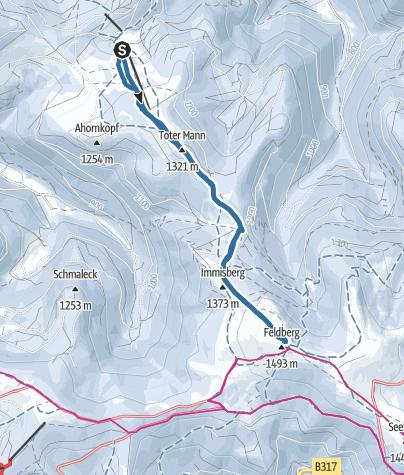 Karte / Sonnenaufgang Schneeschuhtour