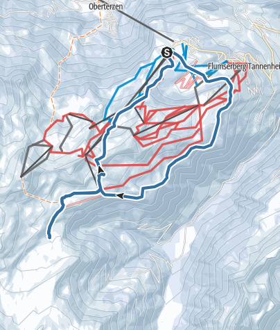 Karte / Schneeschuhtour rund ums Skigebiet