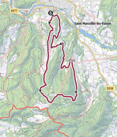 Map / von Vaison-la-Romaine nach Le Crestet