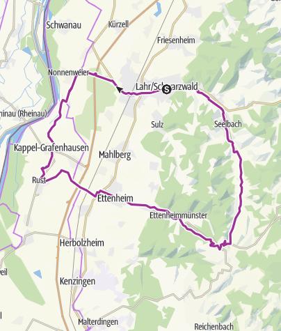 Karte / E-Bike-Tour: Landelin-Tour ab/bis Lahr
