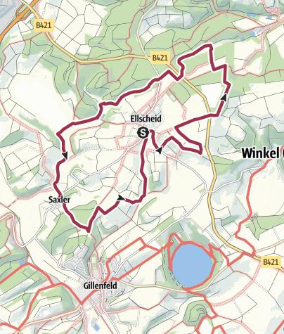 """Karte / Wanderwege """"Rund um's Pulvermaar"""" - Der Antoniusweg"""
