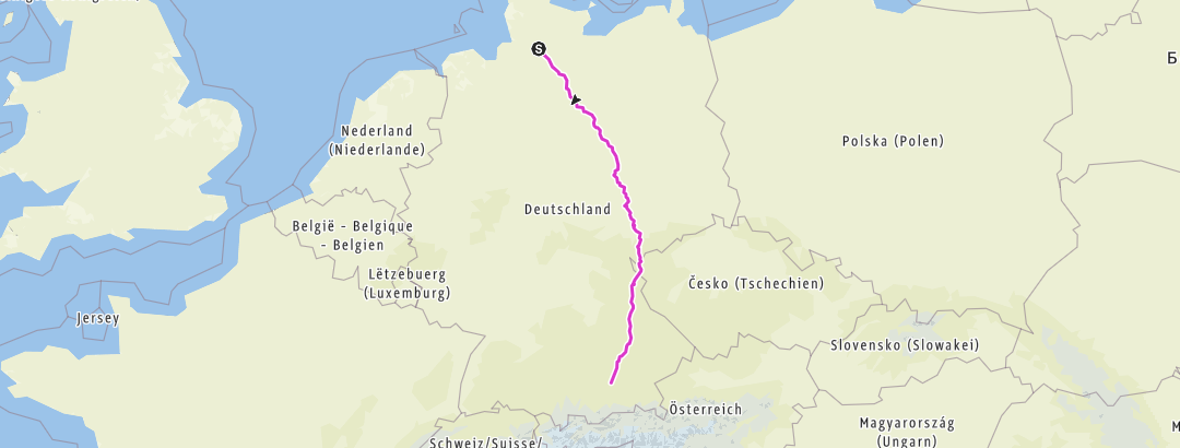 Carte / 2017-Elmshorn-München PLAN 17.02.17