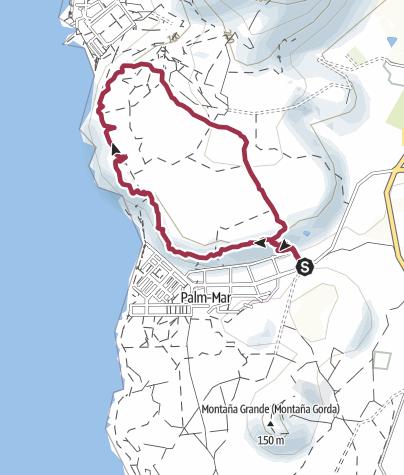 Karte /  17. Februar 2017  Freitagswanderung - Palm Mar Hochebene
