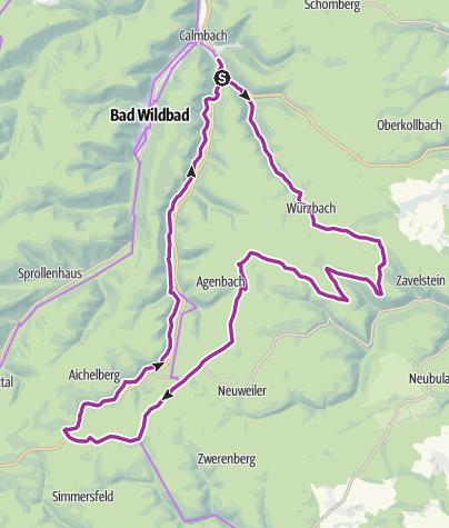 地图 / NATIONALPARK Radroute 1