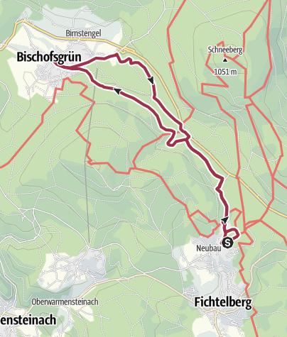 Map / Rundwanderung Fichtelberg-Bischofsgrün