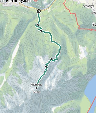 Karte / Watzmann Mittelspitze