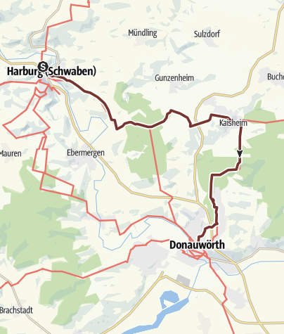 Karte / Harburg nach Donauwörth