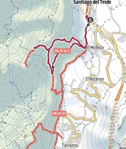 Karte /  20. Februar 2017 Santiago del Teide zum Risco Blanco