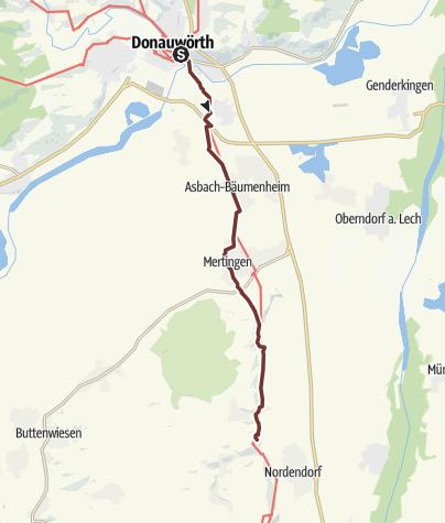 Karte / Donauwörth nach Kloster-Holzen