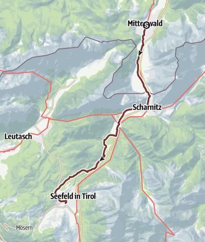Map / VIA ROMEA – (GER 45) – Mittenwald – Seefeld