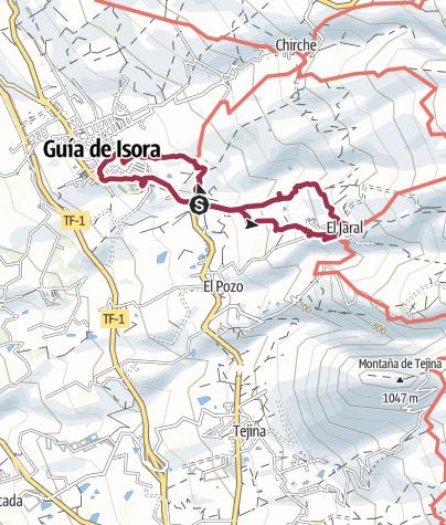 Karte / 22. Februar 2017 Mittwochswanderung El Jaral - Guia de Isora