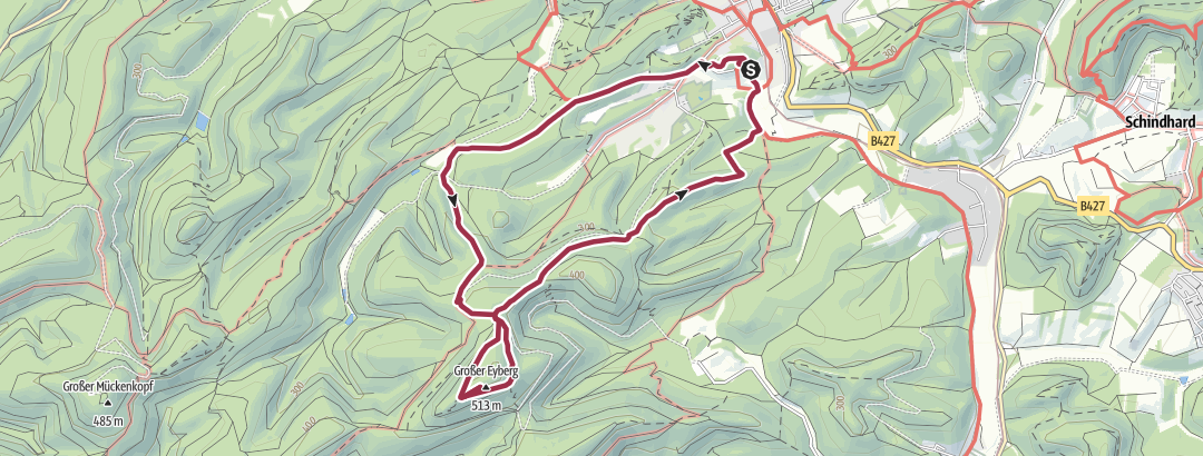 Mapa / Vom Pfalzblick zum großen Eyberg