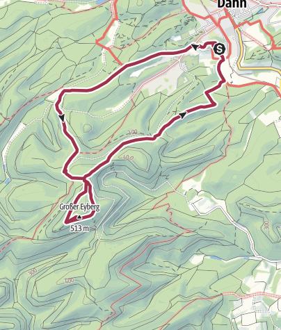 Carte / Vom Pfalzblick zum großen Eyberg