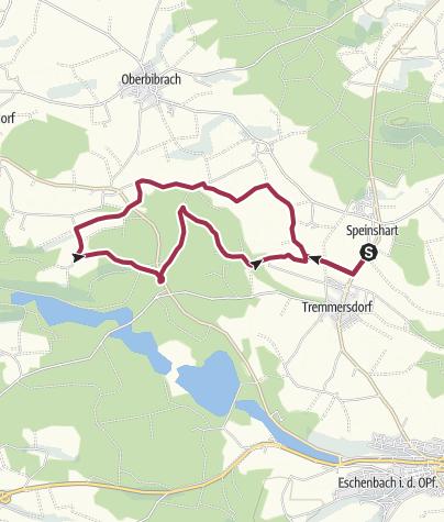 Map / Rundwanderung von Speinshart zur Holzmühle