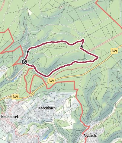 Karte / Plätzerbach- und Kalterbachtal 27. Februar 2017