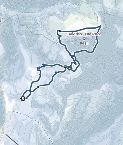 Karte / Drei Zinnen Umrundung per Skitour