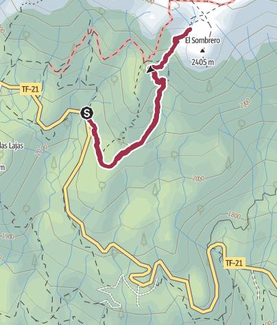 Karte / 1. März 2017 Mittwochswanderung  bei TOP Wetter zum El Sombrero