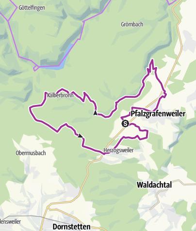 Karte / Pfalzgrafenweiler - Große Tannen und Bannwald