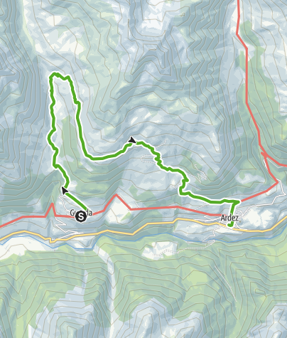 Map / Via Engiadina trek, 2nd stage Guarda - Ardez