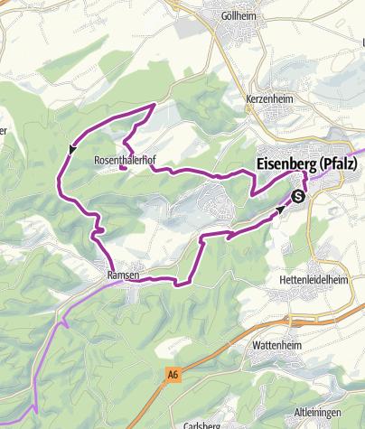Karte / Rundtour zum Kloster Rosenthal
