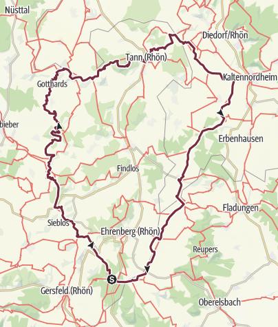 Map / Hochrhön Runde