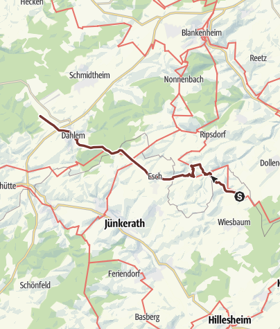 Karte / Chesterton 2e Mirbach - Kloster Dahlem