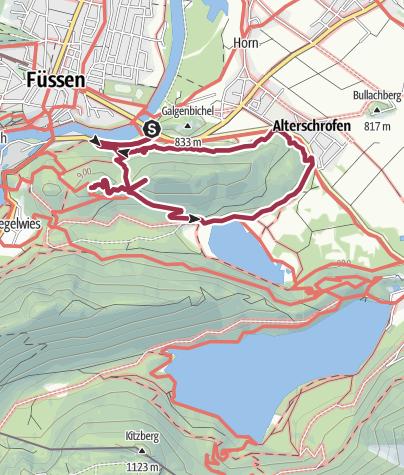 Karte / Vorderer und Hinterer Kienbergweg 18. April 2014