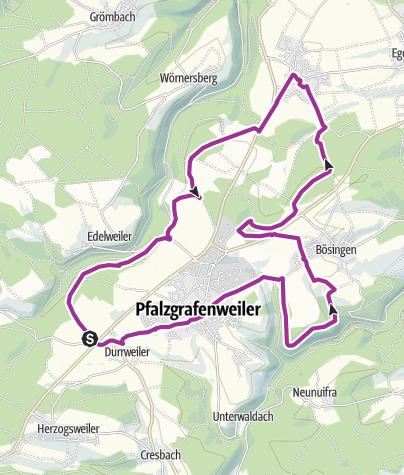 Karte / Von Pfalzgrafenweiler entlang des Zinsbachtales