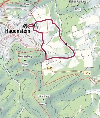 Karte / Kleine Runde über die Felder östlich von Hauenstein