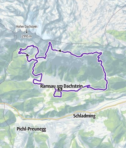 Map / Marathon Torlauf Dachstein