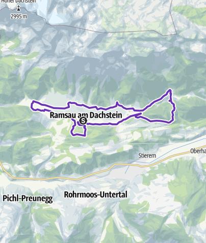Map / Halbmarathon Torlauf Dachstein