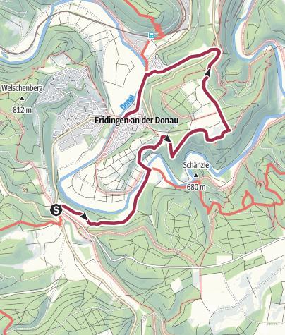 Karte / Tourenplanung am 19. März 2017