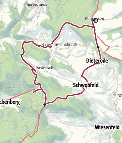 Map / vom Gasthof firlefanz  zur Ruine Altenstein und zurück
