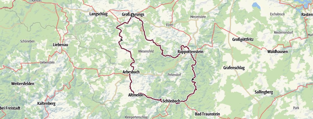 Kartta / Waldviertler Vier-Märkte-Weg 612