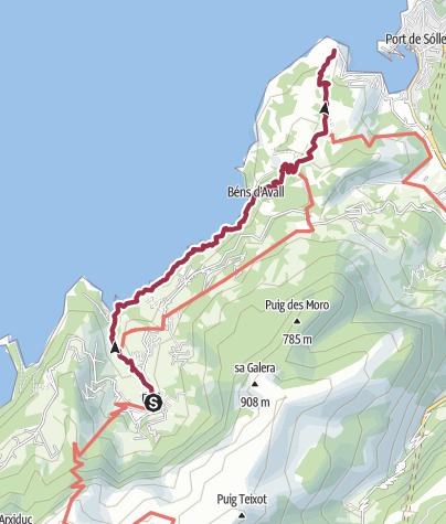 Karte / GR221_7a Deìa - Port de Soller (Küstenweg)