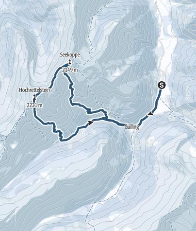 Karte / Seekoppe, Hochrettelstein - Oppenberg