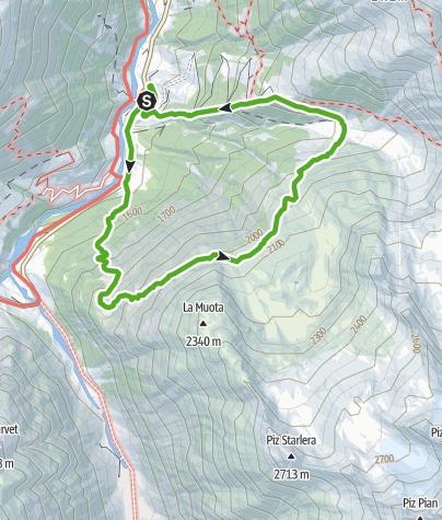 Karte / Plaun Barcuns im Val Medel