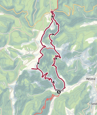 Map / Hohneck from Mittlach