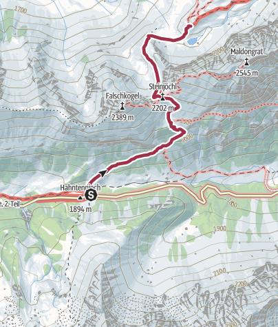 Karte / Anhalterhütte 16.09.09