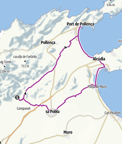 Mallorca Karte Alcudia.Mallorca 21 03 2017 Radtour Outdooractive Com