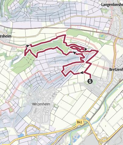 Map / Projekt: Vitaltour Eremitenpfad Bretzenheim - ab 2019!