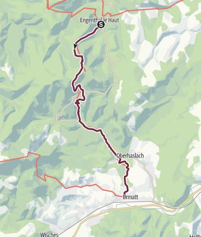 Carte / Traversée du Massif des Vosges - Etape 7 - Wangenbourg-Engenthal / Urmatt