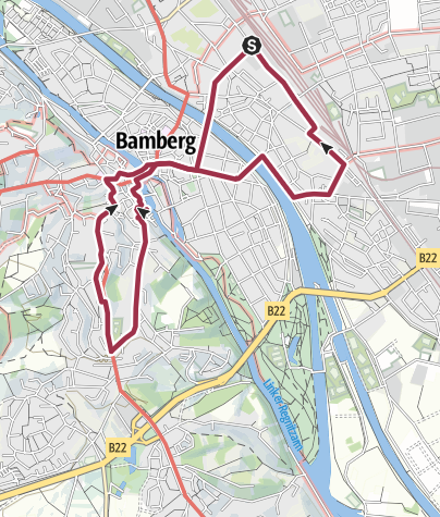 Karte / TCW 35: Bamberg - 3 Brauereibiergärten