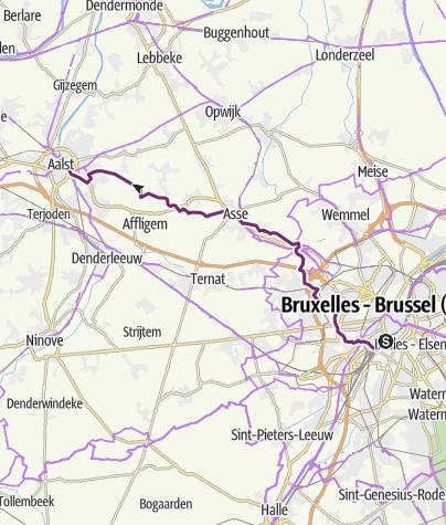 Karte / Chesterton 3f Brüssel - Aalst
